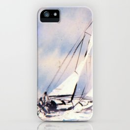 Sydney  to Hobart  Yacht Race        by Kay Lipton iPhone Case