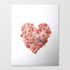 A Heart For Postage Canvas Print