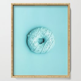 Blue Donut Serving Tray