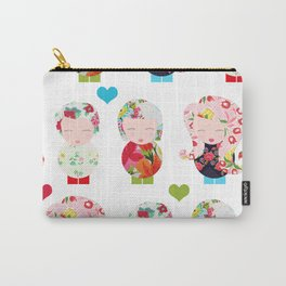 Dolls (White) Carry-All Pouch