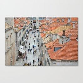 Bustle of Dubrovnik Canvas Print