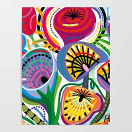 Flower Trip (Square) Poster