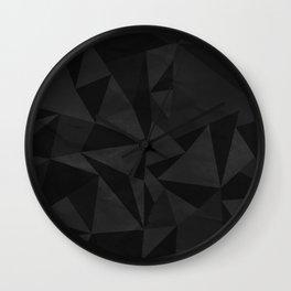 Dirty Dark Geo Wall Clock