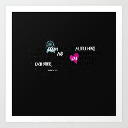 Dream and Love Poetry Art Print