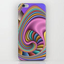 fluid -66blue- iPhone Skin