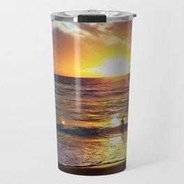 Sunset Sun Bathing by Reay of Light Photography Travel Mug