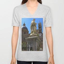 Cathedrale of PALERMO Unisex V-Neck