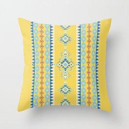 Bright Boho Tribal Pattern Throw Pillow
