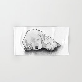 Sleeping Puppy Hand & Bath Towel