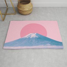 Fuji in red dot Rug