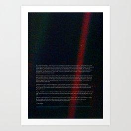 Pale Blue Dot - Voyager 1 [Turkish / Türk], HQ quality Art Print