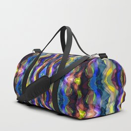 Hand Painted Waves Duffle Bag