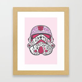 En rose Framed Art Print