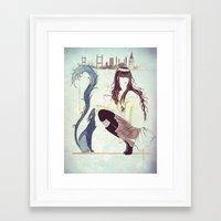 istanbul Framed Art Prints featuring Istanbul by Nila Dedeoglu