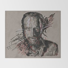Rick Grimes The Walking Dead Throw Blanket