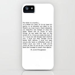 F. Scott Fitzgerald iPhone Case