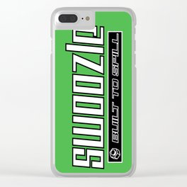 Swoozle - Never Say Die Clear iPhone Case