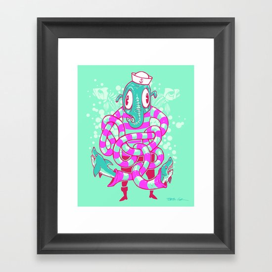 Shark Hands! Framed Art Print