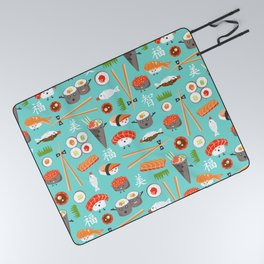 Happy Sushi Picnic Blanket