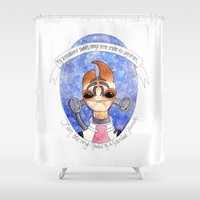 mass effect Shower Curtains featuring Mass Effect: Mordin by Sunol Golden