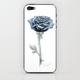 Rose 03 Botanical Flower * Blue Black Rose : Love, Honor, Faith, Beauty, Passion, Devotion & Wisdom iPhone Skin