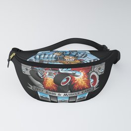 Custom Speed Shop Hot Rods and Muscle Cars Illustration Fanny Pack