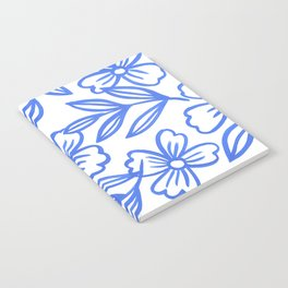 Blue Floral Lines No. 4 Notebook