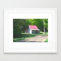 cabin Framed Art Prints featuring Cabin by Lyn Potter