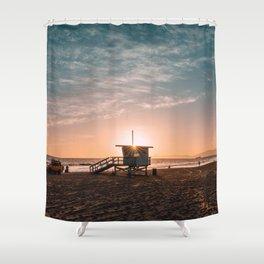 California Lifeguard Tower Shower Curtain
