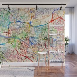 Glasgow Street Map Wall Mural