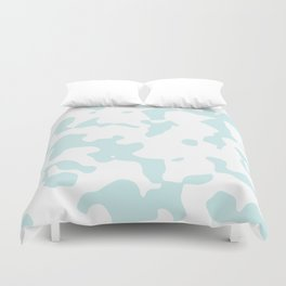 Large Spots - White and Light Cyan Duvet Cover