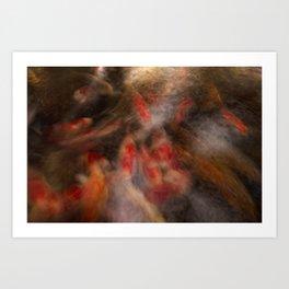Koi Impressionist Abstract Art Print