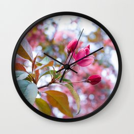 Spring Pink Wall Clock