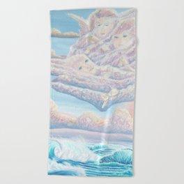 Les anges gardiens de l'amour Beach Towel