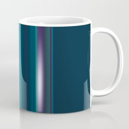 Royal Purple Aqua Stripes Coffee Mug