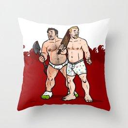 Shaun & Ed Throw Pillow