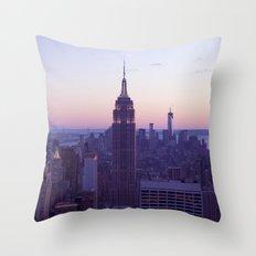 Top of the Rock - New York Skyline Throw Pillow