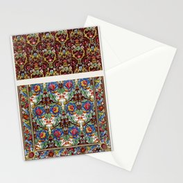 Portieres of printed mohair from the Industrial arts of the Nineteenth Century (1851-1853) by Sir Ma Stationery Cards