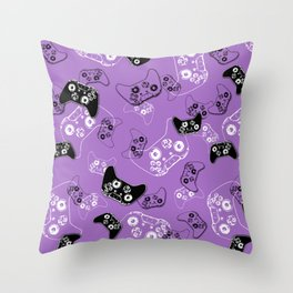 Video Game Lavender Throw Pillow