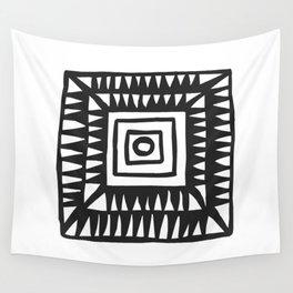 Tribal Print B&W- 02 Wall Tapestry