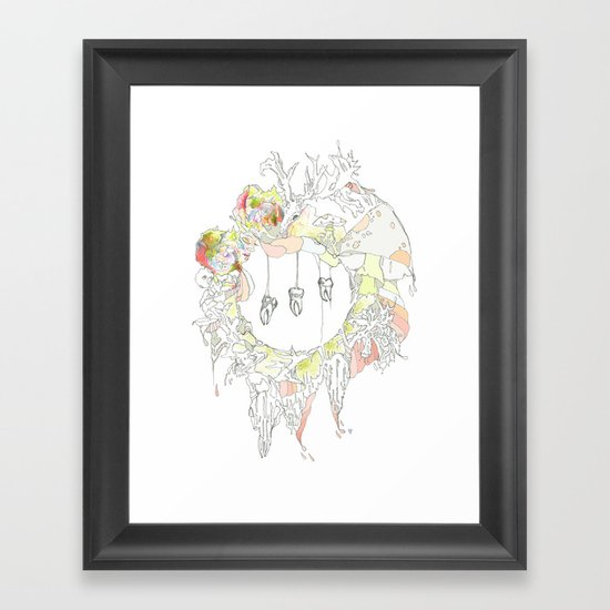 sugar tooth Framed Art Print
