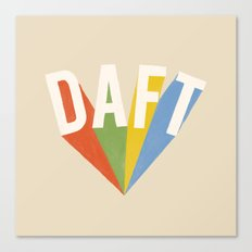 Letters : Daft Canvas Print