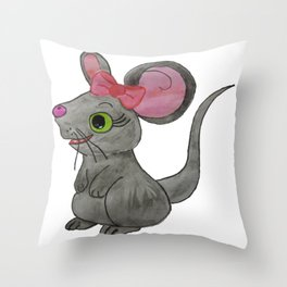 The Cute Little Mouse Throw Pillow