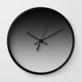 Black to Gray Horizontal Linear Gradient Wall Clock