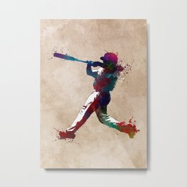 Baseball player 10 #baseball #sport Metal Print