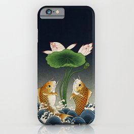 Jumping Carps and lotus C type: Minhwa-Korean traditional/folk art iPhone Case