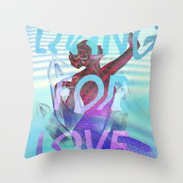 Living for Love Throw Pillow