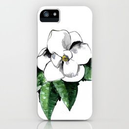 White magnolia iPhone Case