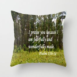 Fearfully and Wonderfully Made Throw Pillow
