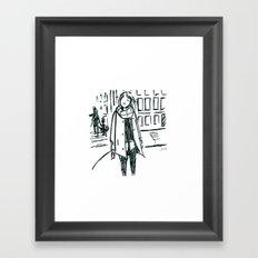 Brush Pen Fashion Illustration - Dreamer Framed Art Print